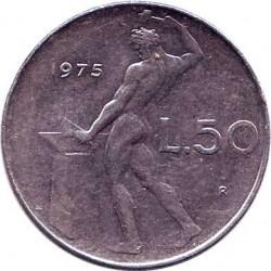 Италия 50 лир 1975 год