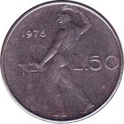 Италия 50 лир 1976 год