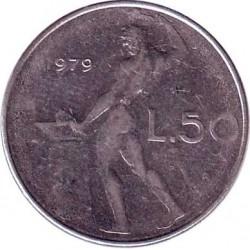 Италия 50 лир 1979 год