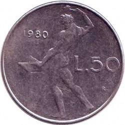 Италия 50 лир 1980 год
