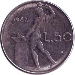 Италия 50 лир 1982 год