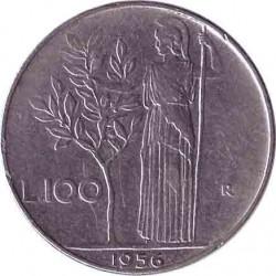 Италия 100 лир 1956 год