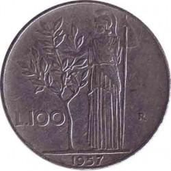 Италия 100 лир 1957 год