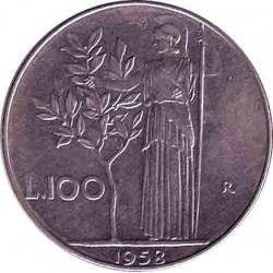 Италия 100 лир 1958 год