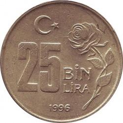 Turkey 25 Bin Lira 1996