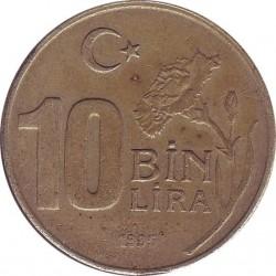Turkey 10 Bin Lira 1995