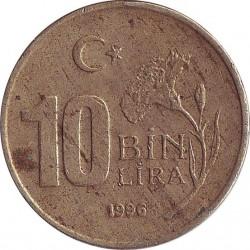 Turkey 10 Bin Lira 1996