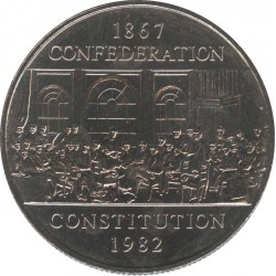 Canada 1 dollar 1982 Constitution 115 years