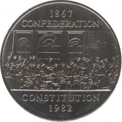 Канада 1 доллар 1982 Конституция 115 лет