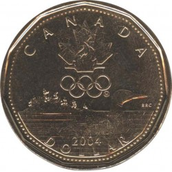 Canada 1 dollar 2004 Olympic duck