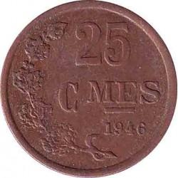 Люксембург 25 сантимов 1946