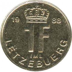 Luxembourg s 1 franc 1988