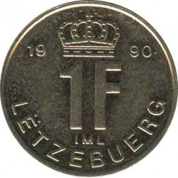 Luxembourg s 1 franc 1990
