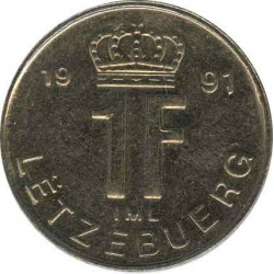 Luxembourg s 1 franc 1991