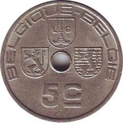 Бельгия 5 сантимов 1938 (BELGIQUE-BELGIE)