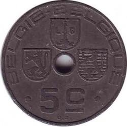 Бельгия 5 сантимов 1942 (BELGIE-BELGIQUE)