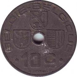 Бельгия 10 сантимов 1945 (BELGIE-BELGIQUE)