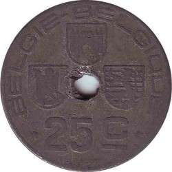 Belgium 25 centimes 1945 (BELGIE-BELGIQUE)