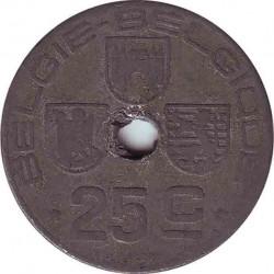 Бельгия 25 сантимов 1945 (BELGIE-BELGIQUE)